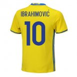 NO.10 Ibrahimovic Maillot foot Domicile Suede 2018