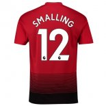 NO.12 Smalling Domicile Manchester United Maillot Football Pas Cher 2018-2019