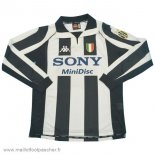 Domicile Maillot Football Manches Longues Juventus Retro 1997 1998