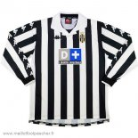 Domicile Maillot Football Manches Longues Juventus Retro 1999 2000