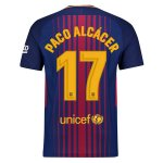 Paco Alcacer Domicile Maillot Barcelone 2017 2018