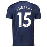 NO.15 Andreas Third Manchester United Maillot Football Pas Cher 2018-2019